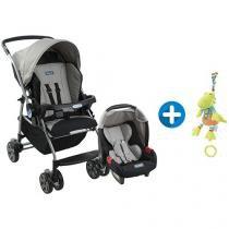Carrinho de Bebê Passeio Burigotto Travel System - Rio K Crianças até 15Kg + Pelúcia Baby Fehn