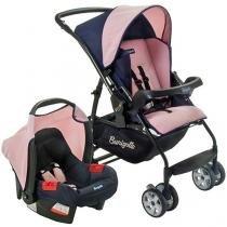 Carrinho de Bebê Passeio Burigotto Travel System - Rio K Reclinável 4 Posições com Bebê Conforto