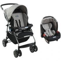 Carrinho de Bebê Passeio Burigotto Travel System  - Rio K Reclinável 4 Posições Crianças até 15Kg