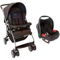 Carrinho de Bebê Passeio BurigottoTravel System - Rio K Reclinável 4 Posições Crianças até 13kg
