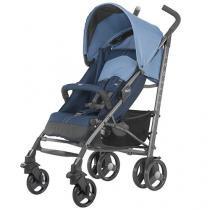 Carrinho de Bebê Passeio Chicco  - Lite Way Basic 2 Blue Reclinável 5 Posições