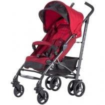 Carrinho de Bebê Passeio Chicco Lite Way Basic 2  - Red Reclinável 5 Posições para Crianças até 15kg