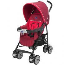 Carrinho de Bebê Passeio Chicco Nuevo Red  - Reclinável Assento Reversível 4 Posições com Capa