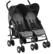 Carrinho de Bebê Passeio Gêmeos Chicco Echo Twin 2 Posições até 15kg -