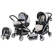 Carrinho de Bebê Passeio Peg-Pérego Travel System - Modular Compact On Track London - 4 Peças