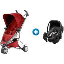 Carrinho de Bebê Passeio Quinny Zapp Xtra 2 - Reclinável 5 Posições + Bebê Conforto Maxi-Cosi