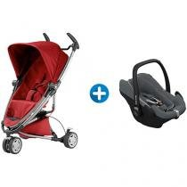 Carrinho de Bebê Passeio Quinny Zapp Xtra 2 - Reclinável 5 Posições + Bebê Conforto Maxi Cosi