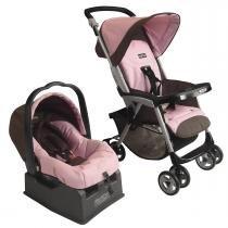 Carrinho de Bebê Peg Pérego Aria e Bebê Conforto com Base - Turmalina - Peg Pérego