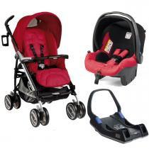 Carrinho de Bebê Peg Pérego Pliko P3 Compact e Primo Viaggio Sl com Base - Marte - Peg Pérego