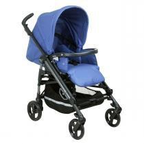 Carrinho de Bebê Peg Pérego Switch Four - Bluette - Cinza/Azul - Peg Pérego