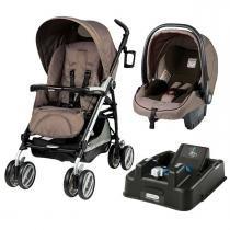 Carrinho de Bebê Peg Pérego Travel System Pliko Compact com Base K - Geo - Peg Pérego