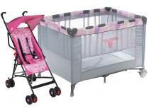 Carrinho de Bebê Stillo Unicórnio - 0 a 15kg + Berço Portátil Voyage Funny Desmontável