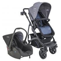 Carrinho de Bebê Travel System Kiddo Explorer Azul + Casulo Click -