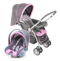 Carrinho de Bebê Travel System Reverse Rosa - Cosco -