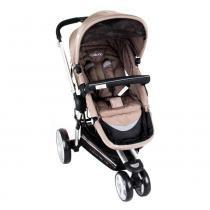 Carrinho de Bebê Triciclo Compass II Revers. Alum. 3 Pos. Capuccino Lenox Kiddo -
