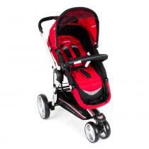 Carrinho de Bebê Triciclo Compass II Revers. Alum. 3 Pos. Vermelho Lenox Kiddo -