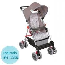 Carrinho de Bebê Tutti Baby Damiano - Cinza Estrela - Tutti Baby