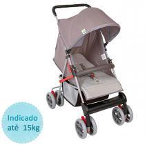 Carrinho de bebê Tutti Baby Tithus - Cinza - Tutti Baby