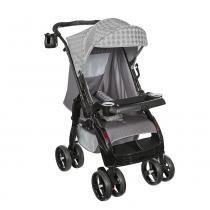 Carrinho de Bebê Upper 05800.02 Cinza - Tutti Baby - Tutti Baby