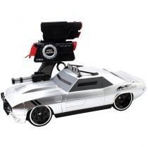 Carrinho de Controle Remoto Battle Machines - Camaro Silver Candide 7 Funções