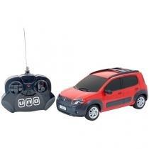 Carrinho de Controle Remoto Fiat Novo Uno CKS - 7 Funções Alcance 7 metros