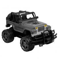 Carrinho de Controle Remoto - Garagem S/A - Jeep Overpass - Cinza - Candide - Candide