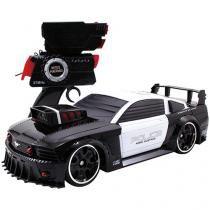 Carrinho de Controle Remoto Mustang Police - Battle Machines Candide