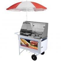 Carrinho de Hot Dog e Lanches Luxo com Guarda-Sol XDLM-007 - Armon -