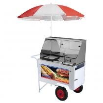Carrinho de Hot Dog e Lanches Luxo com Guarda-Sol XDLP-008 - Armon -