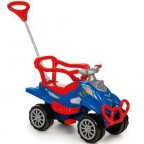 Carrinho de Passeio ou Pedal Cross Turbo Azul - Calesita -