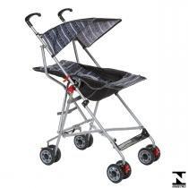 Carrinho De Passeio Para Bebê Umbrella Slim Preto Voyage -