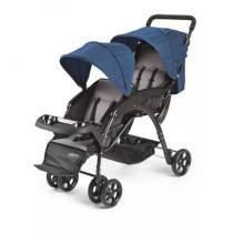 Carrinho de Passeio para Gêmeos Dou Azul Baby Multikids - BB -