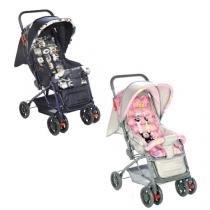 Carrinho e Berço para bebês - Funny - LS2058 - Rosa - Voyage