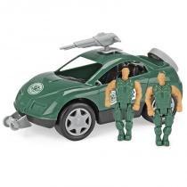 Carrinho Homeplay Força Tarefa Verde 2 Soldados Articulados 2074 - Homeplay
