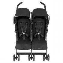 Carrinho Para Bebês Gêmeos Twin Techno Preto Maclaren -