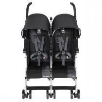 Carrinho Para Bebês Gêmeos Twin Triumph Medieval Preto Charcoal Maclaren -