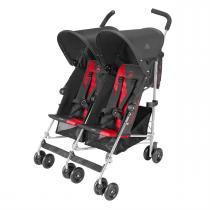 Carrinho Para Bebês Gêmeos Twin Triumph Preto E Vermelho Maclaren - Maclaren