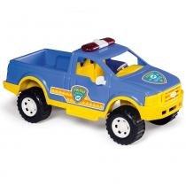 Carrinho Pick-Up Polícia Azul/Amarelo 406 - Calesita - Calesita