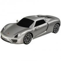 Carrinho Porsche 918 Spyder Exclusivo 1:32 Cinza BR433 - Multikids - Multikids
