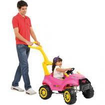 Carrinho smart passeio pedal rosa bandeirante 469 - Bandeirante