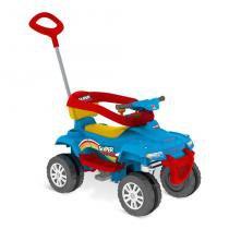 Carrinho Superquad Passeio e Pedal 478 Azul - Bandeirante -