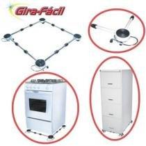 Carrinho Suporte P/ Fogão Geladeira Maquina De Lavar Branco - Quality