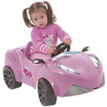Carro a Pedal Infantil Xtreme Girl com Espelhos  - Xalingo