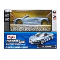 Carro Audi R8 Spyder - Kit de Montagem - 1:24 - Maisto - New toys