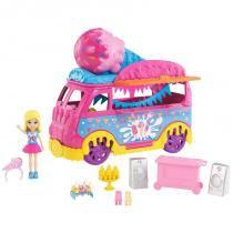 Carro Carnaval de Sorvete Polly Pocket DVJ67 Mattel -