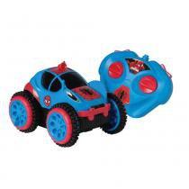 Carro Controle Remoto 3 Funções Power Cambalhota Spider Man - Candide - Candide