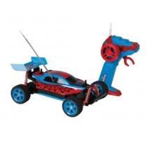 Carro Controle Remoto 7 Funções Bateria Recarregável Spiderman Spider Speed - Candide - Candide