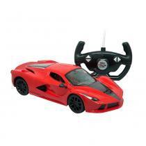 Carro Controle Remoto 7 Funções Mate Carros Vermelho - Candide -