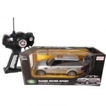 Carro de controle remoto range rover prata - cks -