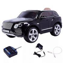 Carro Elétrico Bentley (Banco de Couro) com Controle Remoto Preto II - Belfix -